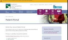 Patient Portal - Southern New Hampshire Health