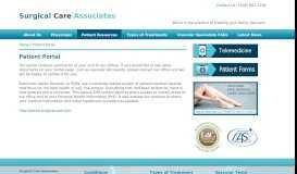 Patient Portal - Surgical Care Associates