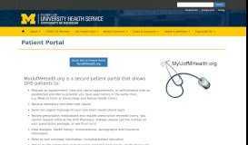 Patient Portal | University Health Service