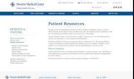 Patient Resources - Newton Medical Center
