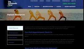 Patient Resources | The Orthopedic Clinic