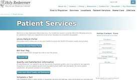 Patient Services | Holy Redeemer Philadelphia, Meadowbrook