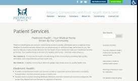 Patient Services   Piedmont Health