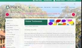 Patient Testimonials   The San Antonio Orthopaedic Group