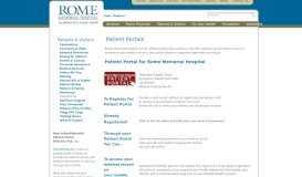 PatientPortal - Rome Memorial Hospital