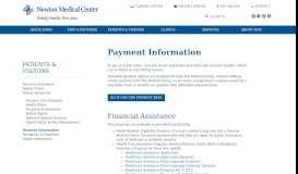 Payment Information - Newton Medical Center