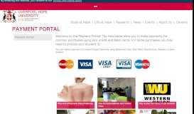 Payment Portal - Liverpool Hope University