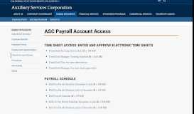 Payroll Account Access - Auxiliary Services ... - Cal State Fullerton