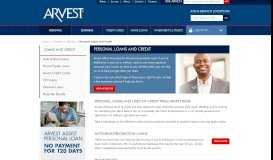 Personal Loans and Lines of Credit   Arvest Bank