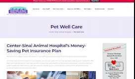 Pet Well Care - CSAH Pet Health Savings Plan - Center-Sinai Animal ...