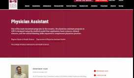 Physician Assistant - Lock Haven University