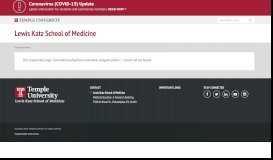 Physician Assistant Program Admissions | Lewis Katz School of ...