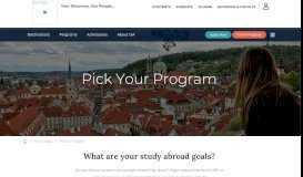 Pick Your Program - International Studies Abroad