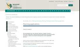 Planning applications | Newport City Council