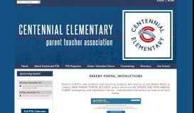 Plano ISD, TX - Parent Portal Instructions - Centennial Elementary PTA