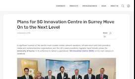 Plans for 5G Innovation Centre in Surrey Move On to the Next Level ...