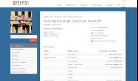 Plumbing Examiners, Texas State Board Of - Texas State ...