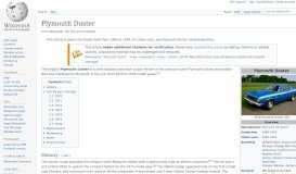 Plymouth Duster - Wikipedia