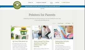 Pointers for Parents: Early Education Tips and ... - Primrose Schools
