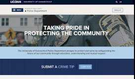 Police Home   Division of Public Safety - UCONN Public Safety