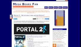 'Portal 2' - Did we really need another Portal? | Mega Bears Fan
