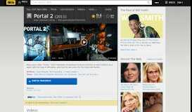 Portal 2 (Video Game 2011) - IMDb