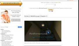 Portal 2 Walkthrough Chapter 1 - Port Forward