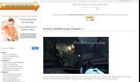 Portal 2 Walkthrough Chapter 7 - Port Forward