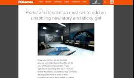 Portal 2's Desolation mod set to add an unsettling new story and ...