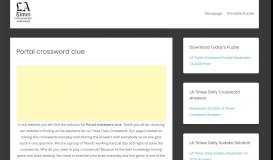 Portal crossword clue - LATimesCrosswordAnswers.com