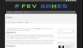 Portal | Fev Games
