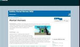 Portal Heroes | Roblox Portal Heroes Wiki | FANDOM powered by Wikia