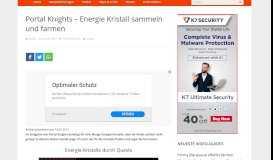 Portal Knights – Energie Kristall sammeln und farmen – games-blog.de