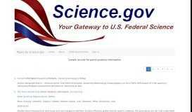 portal products information: Topics by Science.gov