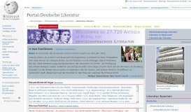 Portal:Deutsche Literatur – Wikipedia