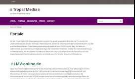 Portale | Der Online-First B2B-Fachverlag - Tropal Media