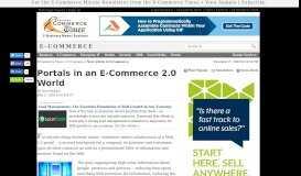 Portals in an E-Commerce 2.0 World - E-Commerce Times
