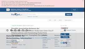 Possible Association Between the Methylenetetrahydrofolate ... - NCBI