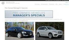 Pre-Owned Manager's Specials   Volvo Cars of Cary