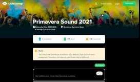 Primavera Sound 2019 - Buy or Sell tickets – TicketSwap