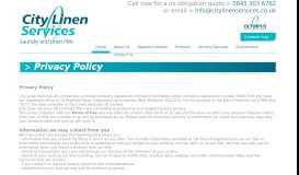Privacy Policy - City Linen Services