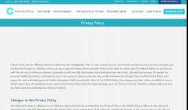 Privacy Policy - Clarity Clinic