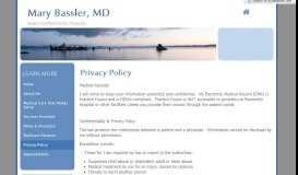 Privacy Policy - Mary Bassler, MD