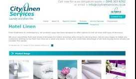 Product Range - City Linen Services
