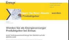 Produktgeber bei Ennux werden und Umsätze steigern