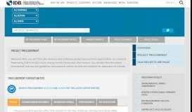 Project Procurement | IADB