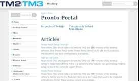 Pronto Portal | Desktop - Knowledge Base