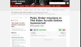 Psijic Order missions in The Elder Scrolls Online Summerset - The ...