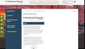 Public Request Portal   Snohomish County, WA - Official Website