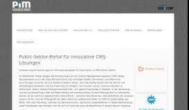Public-Sektor-Portal für innovative CMS-Lösungen